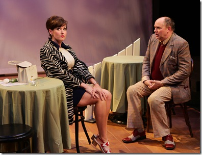 Aimee Doherty, Neil A. Casey.  One Man, Two Guvnors.   photo by Mark S. Howard.