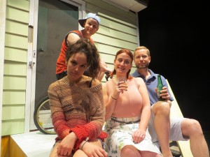 Detroit, by Plosive Productions. Left to right: Stephanie Izsak; David Benedict Brown; Teri Loretto-Valentik; David Whiteley