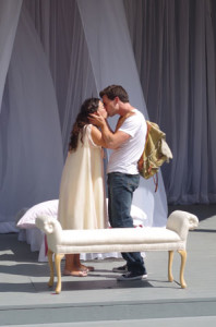 Rose Napoli as Juliet, Jesse Griffiths as Romeo.  Photo: SLSF